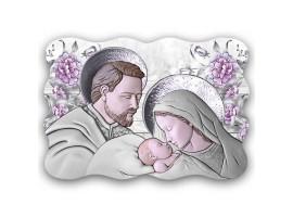 Quadro Sacro - Sacred Family Violet