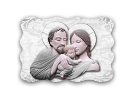 Quadro Sacro - Sacred Family Marble Grey