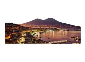 Quadro silhouette Napoli al Tramonto