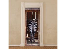 adesivo per porta Zebra
