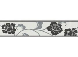 bordo adesivo fiori neri