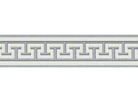 bordo adesivo greca bianco e argento