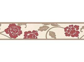 bordo adesivo fiori rossi