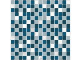 adesivo mosaico blu