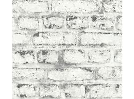 Carta da parati mattoni industry grey