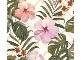Carta da parati fiori tropicali