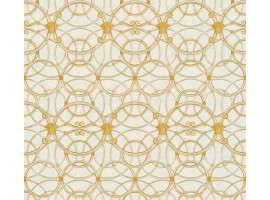 Carta da parati Versace cerchi crema oro