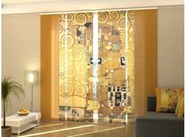 Tenda a 4 pannelli Gustav Klimt L'Abbraccio