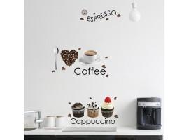 Adesivo murale caffè