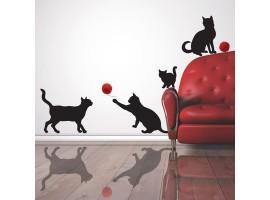 Adesivo murale gattini