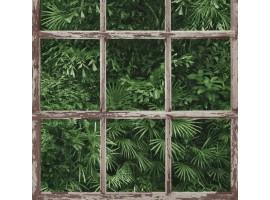 Carta da parati finestra giungla