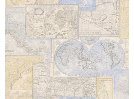 World Map Clear - Carta da parati