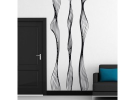 adesivo gigante curve intrecciate