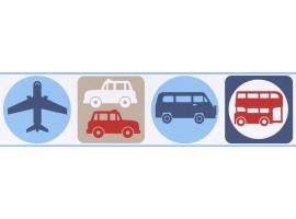 bordo adesivo icone azzurre