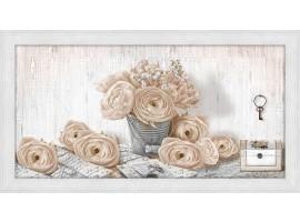 Quadro in legno con cornice Rose Shabby