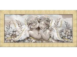Quadro in tela con glitter cornice Angioletti Oro