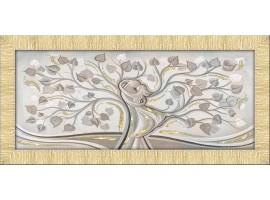 Quadro in tela con glitter cornice Abbraccio nell'Albero Oro