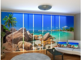 Tenda a 8 pannelli Spiaggia Tropicale