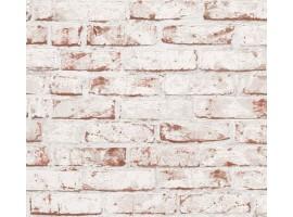 carta da parati mattoni vintage rossi