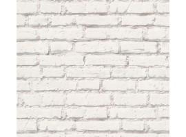 carta da parati mattoni bianchi
