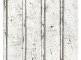 carta da parati legno shabby bianco