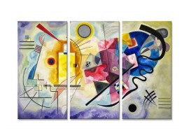 Quadro tre pannelli Giallo Rosso Blu di Kandinsky