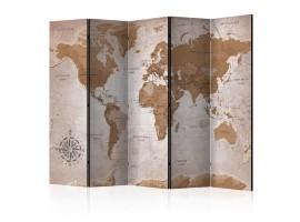 separè paravento cartina geografica