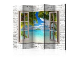Paravento Finestra sui Tropici