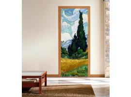 adesivo per porta Campo di Grano - Van Gogh