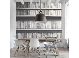Fotomurale libreria bianco e nero