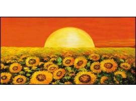 Quadro su tela Girasoli Arancio