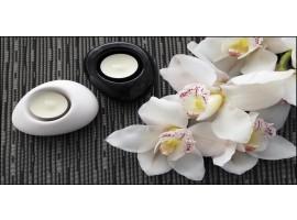 Quadro su tela Orchidee e Candele
