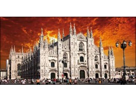 Duomo di Milano Red | Quadro su tela