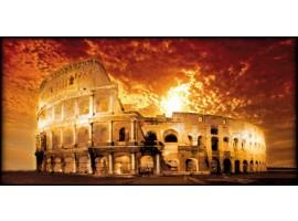 Roma Colosseo dorato | Quadro su tela