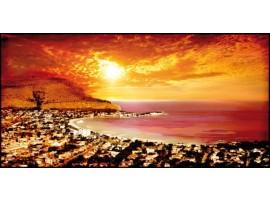 Golfo di Palermo Red   Quadro su tela