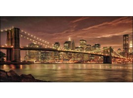 Ponte di Brooklyn Brown | Quadro America su tela