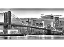 New York Grey   Quadro America su tela
