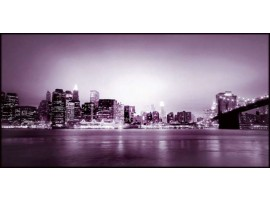 New York Violet | Quadro America su tela