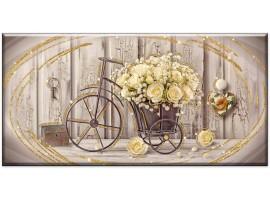 quadro glitter shabby yellow roses