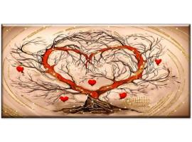 quadro glitter Albero a forma di cuore