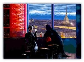 Quadro Max Ross Batman e Catwoman a Torino