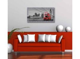 Quadro in tela con cornice Londra Bus Rosso