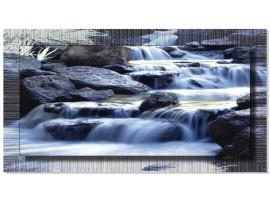 Quadro in tela con cornice Cascate nel Bosco Argento