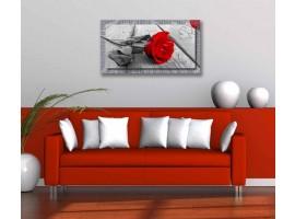 Quadro in tela con cornice Passione Argento