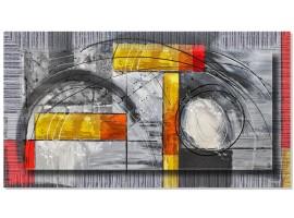 Quadro in tela con cornice Moderno Astratto Argento