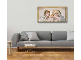 Quadro in tela con cornice Kiss Ceramic Oro
