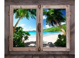 Trompe l'Oeil | Finestra con sulla Spiaggia
