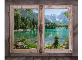 Trompe l'Oeil | Finestra sul lago montano
