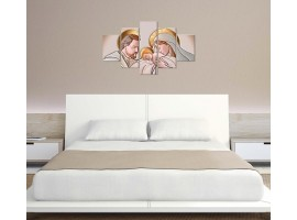 quadro 5 pannelli sacro religioso