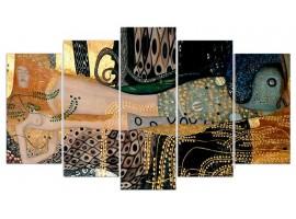 L'Abbraccio di Klimt (five in tela)